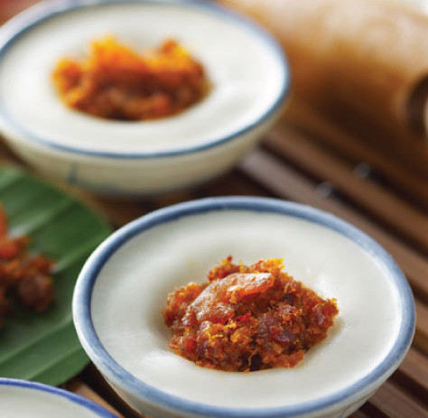 Chwee Kuih with Sambal Dried Prawns